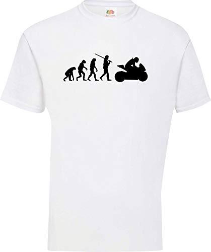 Shirtinstyle evolución de la Camiseta Moto Sport Fun Edición Especial Tallas...
