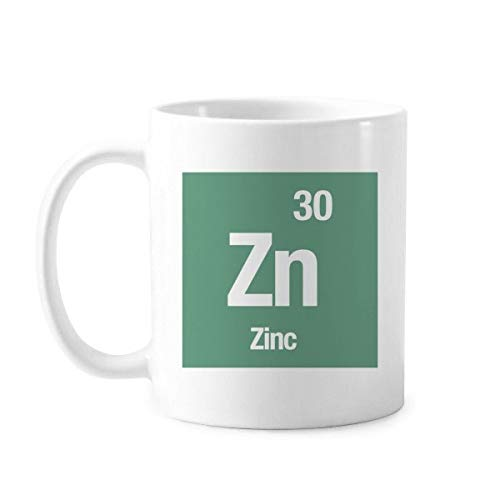 DIYthinker cerámica Elemento zn Zinc Ciencias químicas Taza clásica Taza de...