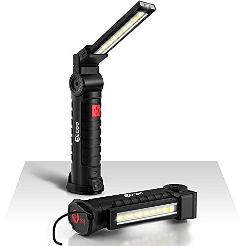 eecoo Linterna Taller LED Recargable 1800mAh, Linterna de Trabajo 5 Modos 800...