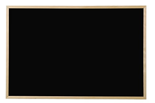 Bi-Office Basic - Pizarra de tiza, marco de pino, 80 x 60 cm