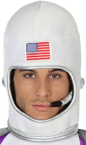 Atosa-42428 Casco Astronauta, color blanco, única (42428)