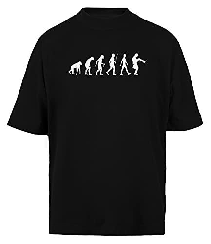 Evolución De Hombre Unisex Hombre Mujer Holgada Camiseta Black Algodon Organico...