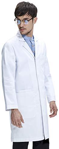Bata de Laboratorio Dr. James Unisex, Corte Clásico, Bolsillos para Teléfono...