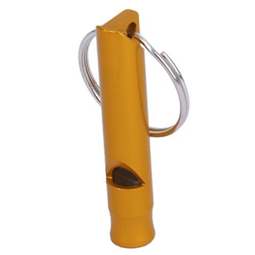 CABLEPELADO Silvato de supervivencia emergencia para llavero color dorado