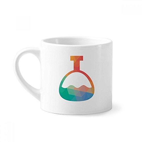 DIYthinker Cono de Dibujos Animados patrón Botella química Mini Taza Blanca...