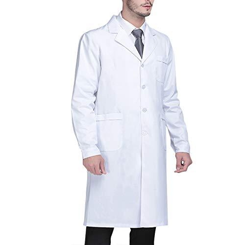 Beautyshow Bata de Laboratorio, Ropa de Médico Bata de Laboratorio para Hombres...