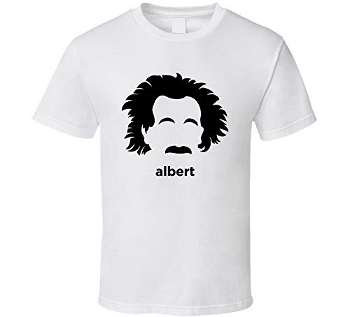 Albert Einstein World reconocido teórico físico camiseta blanca