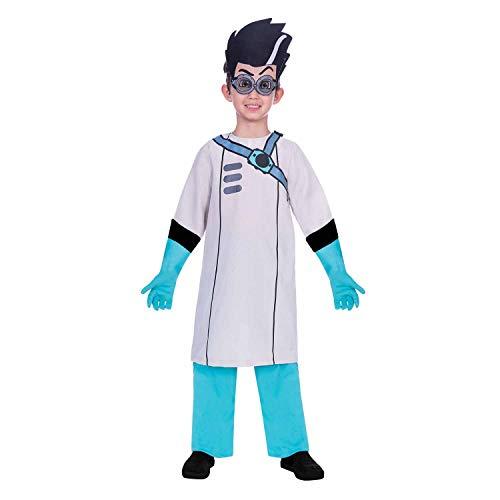 Amscan 9904229 - Disfraz infantil de PJ Masks Romeo (116 cm), color blanco y...