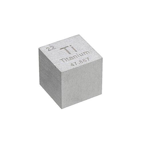 EsportsMJJ 99,5% Alta Pureza 10 mm Cubo Titanio Ti Metal Tallado Elemento...
