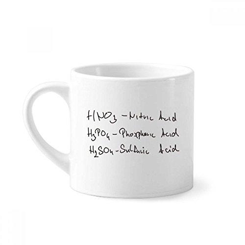 DIYthinker Taza de la química del ácido Conocimiento tiende Mini del café con...