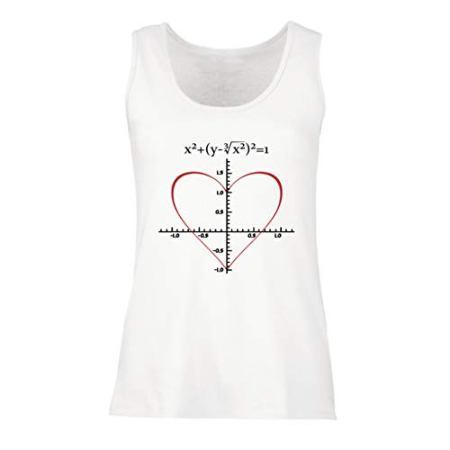 lepni.me Camisetas sin Mangas para Mujer Fórmula de Matemáticas del Amor...
