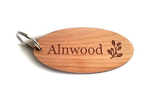 OriginDesigned Llaveros personalizados, llaveros, llaveros – chapa de madera...