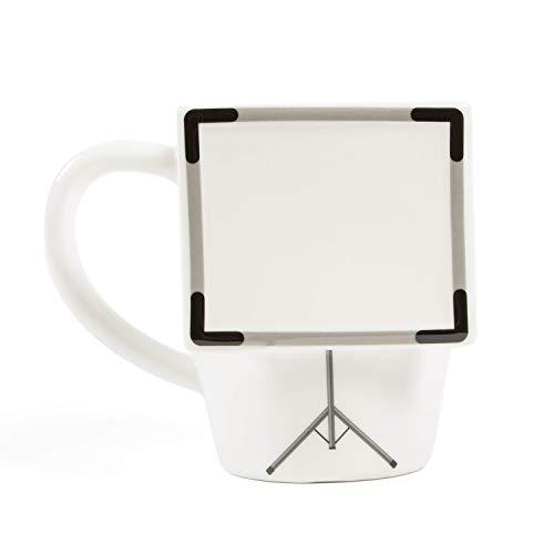 el & groove 3D Taza de Pizarra Blanca Grande, Taza de café de 350 ml (400 ml...