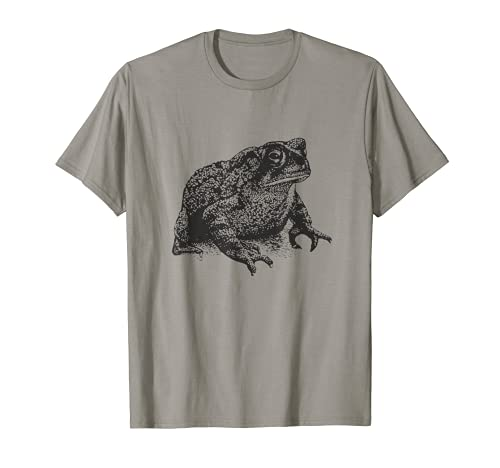 Sapo Gordo Minimalista Rana Anfibios Biología Realista Camiseta