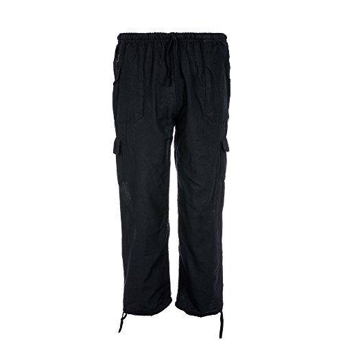 Tumia LAC Pantalones de algodón Coloridos, Comercio ético, Muy cómodos. Azul...