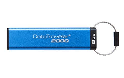 Kingston DataTraveler 2000 DT2000/8GB - Memoria USB 3.0 de 8 GB cifrada con...