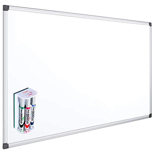 OFITURIA® Pizarra Blanca Magnética Lacada Con Marco De Aluminio Resistente...