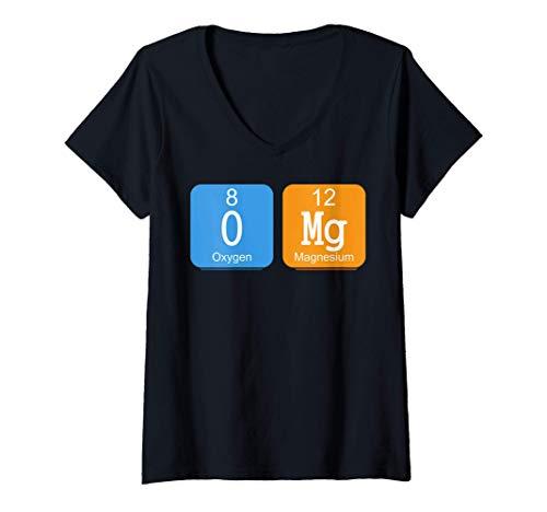 Mujer Tabla periódica de elementos OMG Ciencia Química Sarcasmo Camiseta...