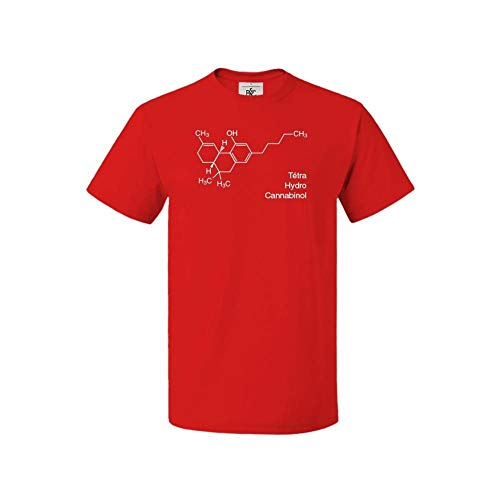 Mygoodprice THC - Camiseta de cuello redondo para hombre Rouge (Red) XXL