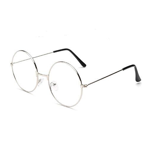 TRIXES Plata redondas Unisex Plateadas - Gafas estilo retro de los años sesenta...