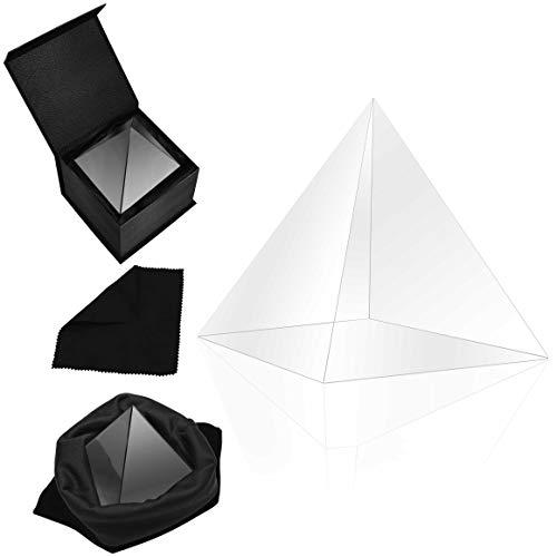 BELLE VOUS Prisma de Cristal K9 Pirámide 8 x 8 x 9,7 cm - Refractor Prisma para...