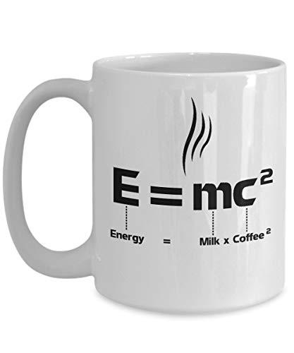 N\A E = mc2 Mug Energy Milk Coffee Funny Mass Teoría de la relatividad de...