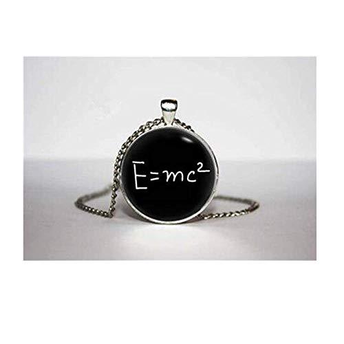 we are Forever family Collar E=mc2, Colgante de teoría de la relatividad,...