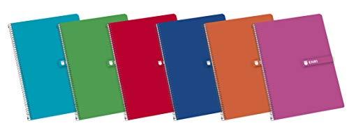 Enri, Cuadernos A5, Pack de 5 Libretas Tapa Dura, 80 Hojas, Cuadrícula 4x4,...