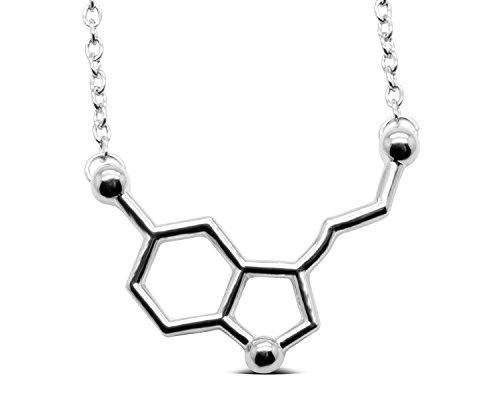 Serebra Jewelry Serotonina Molécula Colgante Collar | aleación Color Plata,...