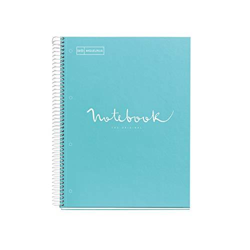 Miquelrius - Cuaderno Notebook Emotions, 1 Franja de Color, A4, 80 Hojas...