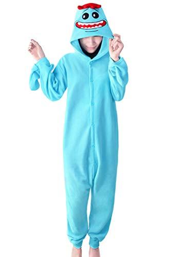 wotogold Pijamas de Rick Azul Animal Trajes de Cosplay Adultos Unisex Blue