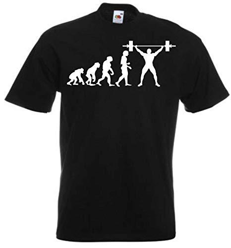 JINTORA Camiseta T-Shirt - Hombre Negro - Talla L - Levantamiento de Peso...