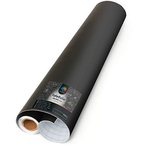OfficeTree Papel Pizarra Adhesivo Pared 43 x 300 cm - Vinilo Pizarra Negra...