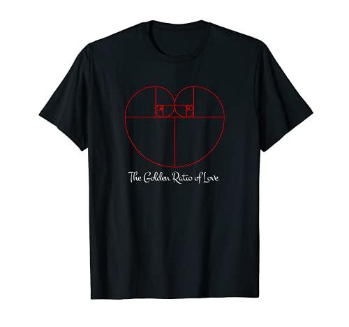 Fibonacci - Golden Ratio of Love I Geometria Sagrada Camiseta