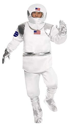 Smiffy'S 21103M Disfraz De Astronauta Con Top, Pantalones Casco, Guantes Y...