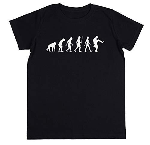 Wigoro Evolución De Hombre Niños Unisexo Chicos Chicas Negro Camiseta Kids...