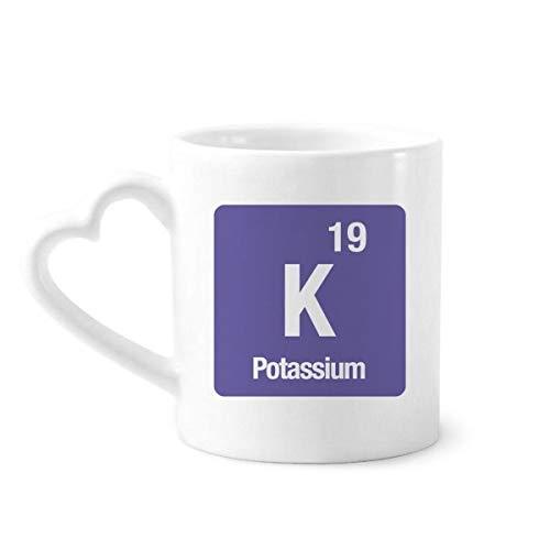DIYthinker el potasio k Elemento químico química Taza de café de la cerámica...
