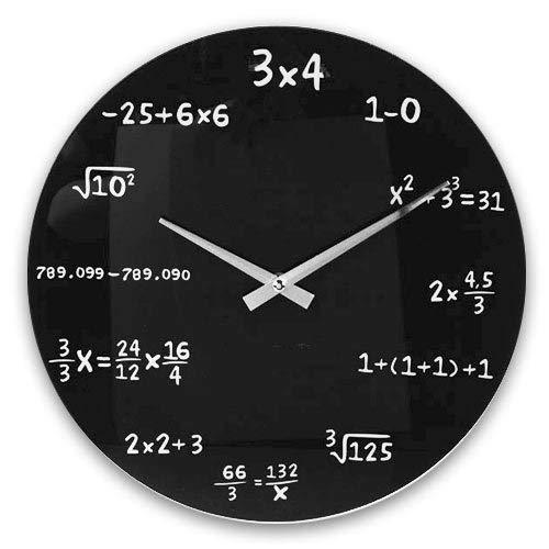 OOTB Reloj de Pared Cristal Negro Estándar