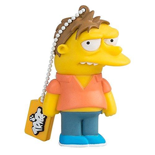 Tribe Simpson Springfield Pendrive - Memoria USB Flash Drive 2.0, de Goma, de 8...