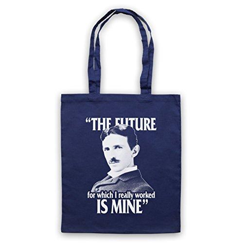 Nikola Tesla The Future Is Mine Bolso, Azur Marino