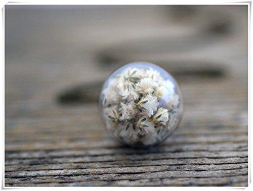 Elf House Gypsophila - Collar de flores blancas auténticas, joyería botánica,...