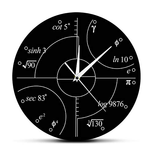 YYZCM Reloj de Pared acrílico Matemáticas avanzadas Números irracionales...