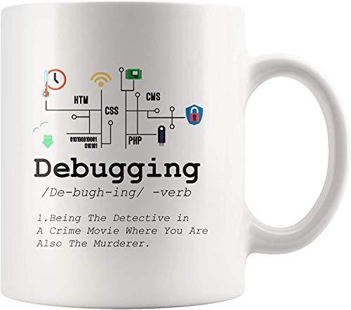 Definición de depuración Taza Programación divertida de TI Código de...