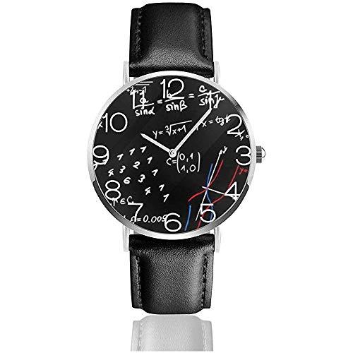 Reloj de Pulsera Ecuaciones matemáticas Reloj de Pulsera de Cuero Negro...