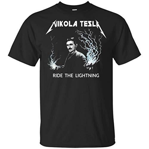 FGJGHK Nikolas Tesla Ride The Lighting - Camiseta para hombre