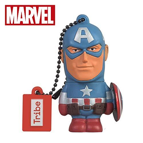 Llave USB 8 GB Captain America - Memoria Flash Drive 2.0 Original Marvel...