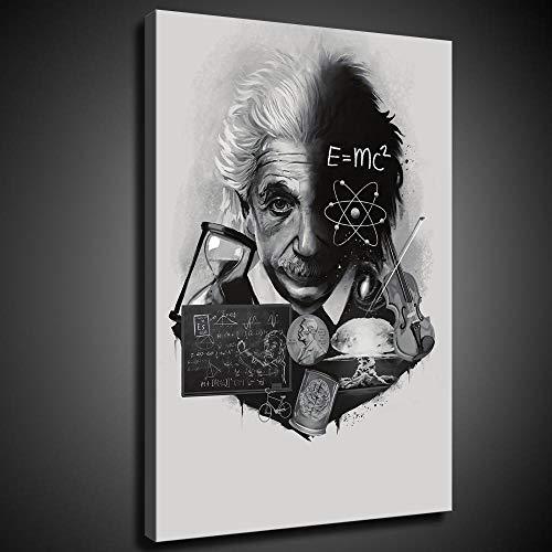 YuHui Póster de Albert Einstein y arte de pared, impresión moderna para...