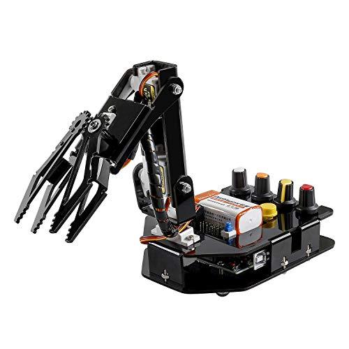 SUNFOUNDER Robot Arm 4-Axis Servo Control 180 Grados de Rotación Kit Robotica...