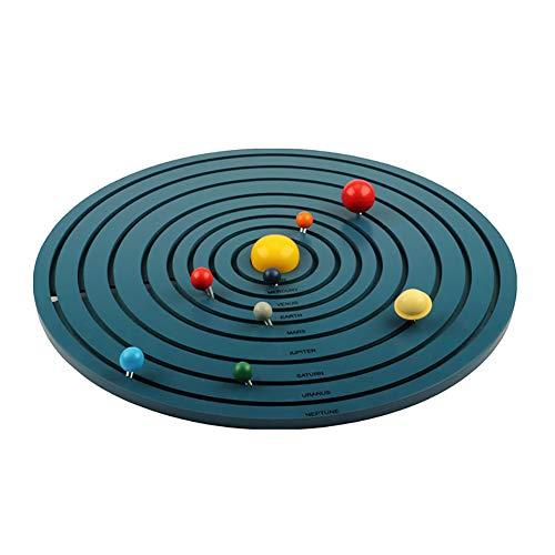 ROCK1ON Montessori Materiales de Ocho Planetas Tridimensionales de Madera,...