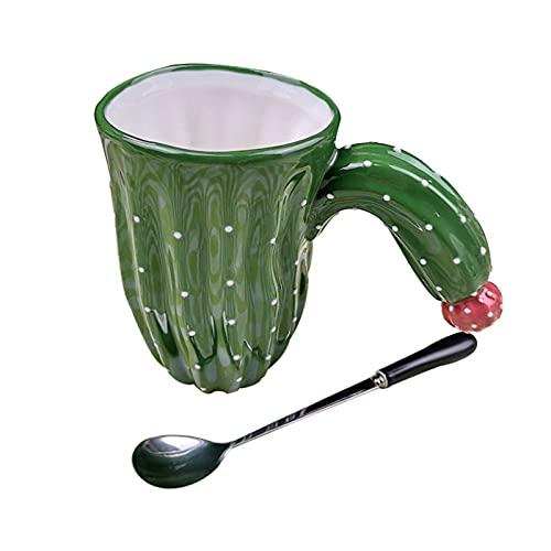 lefeindgdi Taza de café de cerámica con aspecto de cactus moderno diseño de...